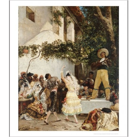 "GEORGES-JULES- VICTOR CLARIN ""Spanish Dancers"" Print various SIZES available"