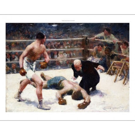 "CLAUDE CHARLES BOURGONNIER ""Knock Out"" Boxing Print various SIZES available, NEW"