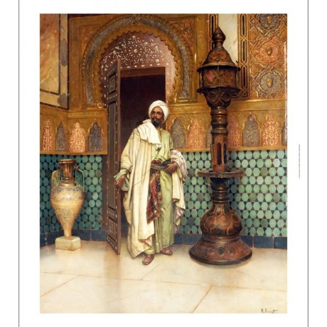 "RUDOLF ERNST ""An Arab In A Palace"" CANVAS PRINT ! choose SIZE, from 55cm up, NEW"