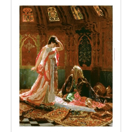 "EDOUARD FREDERIC WILHELM RICHTER ""The Fortune Teller"" DESTINY cards NEW CANVAS"