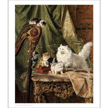 HENRIETTE RONNER-KNIP Musical Interlude Cat Print choose SIZE, from 55cm up, NEW