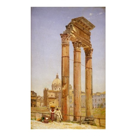 "NIELS-ANDERS BREDAL ""Forum, Rome"" CANVAS ART ! choose SIZE, from 55cm up, NEW"