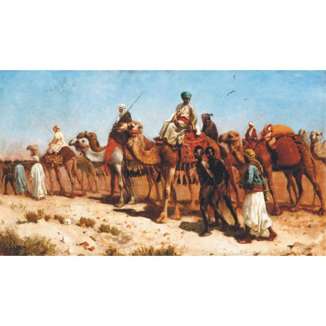 "EDWIN LORD WEEKS ""The Caravan"" ARABS camel desert NEW various SIZES, BRAND NEW"