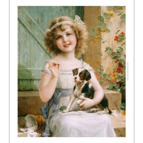 "EMILE VERNON ""Waiting For Vet"" CANVAS ART ! choose SIZE, from 55cm upwards, NEW"