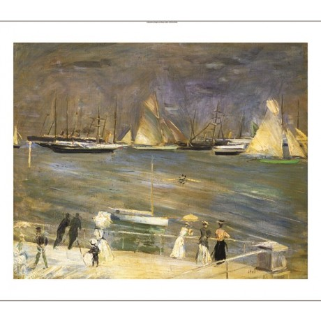 PAUL-CESAR HELLEU Cowes Regata Reagtes A Cowes CANVAS various SIZES, BRAND NEW