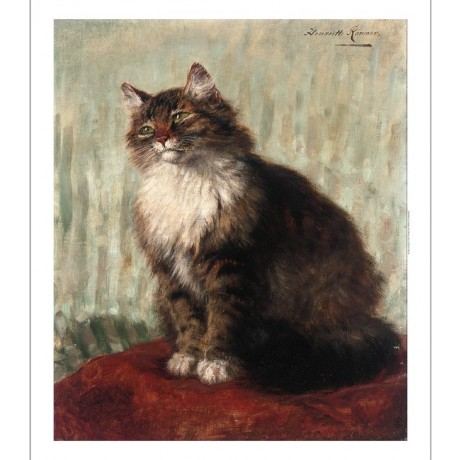 "HENRIETTE RONNER-KNIP ""Seeking Attention"" cat CANVAS various SIZES available"