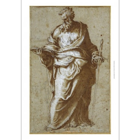 "CANVAS PRINT of ""Saint Paul"" EXTREMELY FINE study of head GIUSEPPE PORTA giclee"