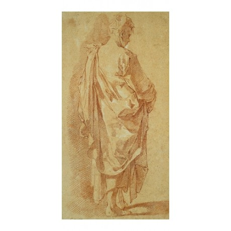 "Canvas print ARTFULLY drawn of ""Standing Man From Behind Looking Right"" VAN LOO"