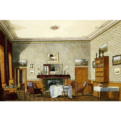 "GEORGE PYNE ""The Interior of a Room"" OXFORD college table cabinet CANVAS PRINT"