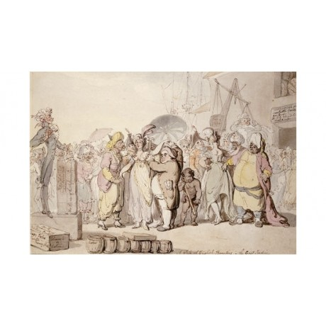 THOMAS ROWLANDSON Sale Of Beauties East Indies PRINT various SIZES available