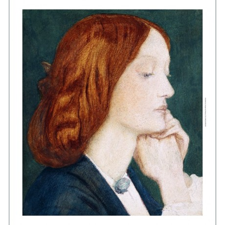 DANTE GABRIEL ROSSETTI Elizabeth Siddal ARTISTS WIFE redhead NEW CANVAS PRINT!