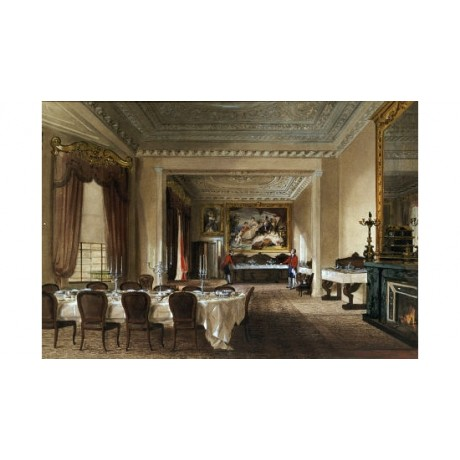 "JAMES ROBERTS ""Dining Room, Osborne House"" Art Print various SIZES available"