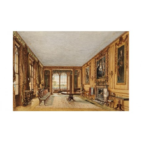 WILLIAM HENRY HUNT Dining Room Cassiobury PRINT choose your SIZE, from 55cm up