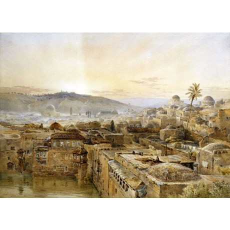 "FINE CANVAS PRINT of ""Jerusalem from Mount Zion"" domes NATHANIEL EVERETT GREEN"