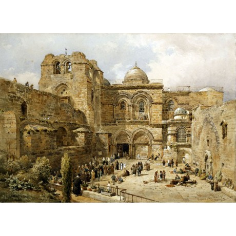 "CANVAS PRINT ""Church of the Holy Sepulchre Jerusalem"" NATHANIEL EVERETT GREEN"