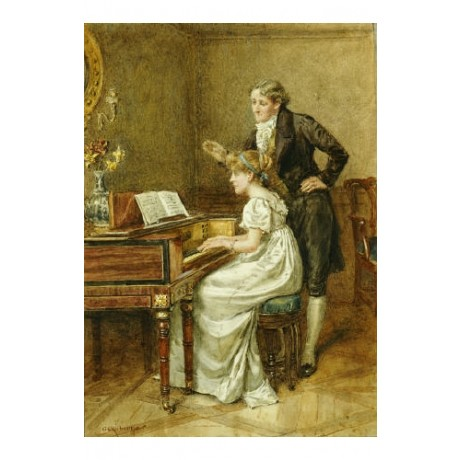 "GEORGE GOODWIN KILBURNE ""Music Master"" print NEW choose SIZE, from 55cm up, NEW"