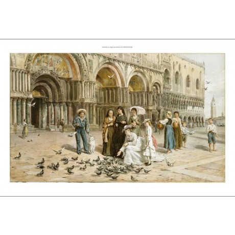 GEORGE GOODWIN KILBURNE Pigeons St. Mark's Venice PRINT various SIZES, BRAND NEW