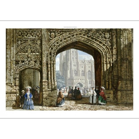 "LOUISE RAYNER ""Canterbury Cathedral"" CANVAS ART ! choose SIZE, from 55cm up, NEW"