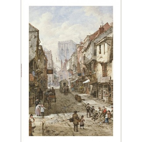 "LOUISE RAYNER ""Foss Gate, York"" Art CANVAS EDITION choose SIZE, from 55cm up"