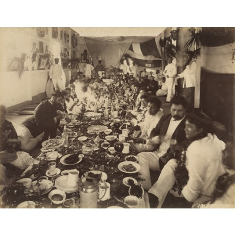 "NEW CANVAS PRINT of vintage photo ""Americans Feasted by Hawaiian hosts"" hawaii"