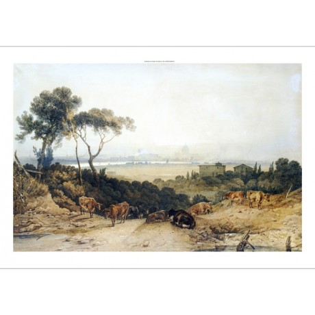 "J.M.W. TURNER ""London: Autumnal Morning"" PRINT NEW choose SIZE, from 55cm up"