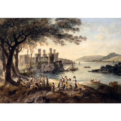 JULIUS CEASAR IBBETSON Conway Castle ENJOYMENT blind harper wales NEW CANVAS!!