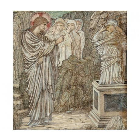 "SIR EDWARD COLEY BURNE-JONES ""Raising Of Lazarus"" print various SIZES, BRAND NEW"