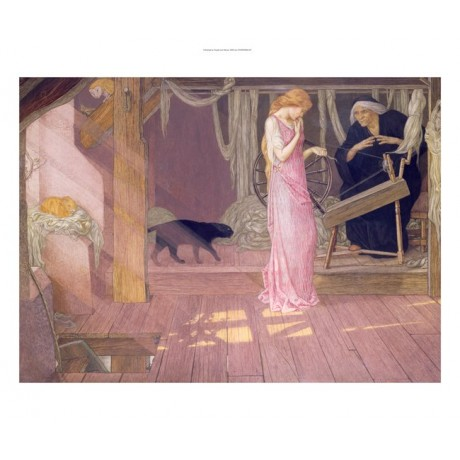 "John Dickson Batten ""Sleeping Beauty"" print CANVAS choose SIZE, from 55cm up"
