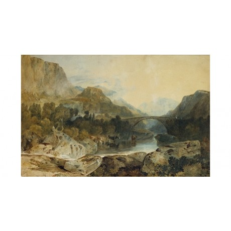 "JOSEPH MALLORD TURNER ""Rosthwaite Bridge Borrowdale"" various SIZES available"