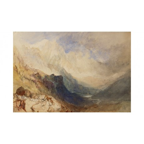 "JOSEPH MALLORD TURNER ""Scene in Val d'Aosta"" new CANVAS various SIZES, BRAND NEW"