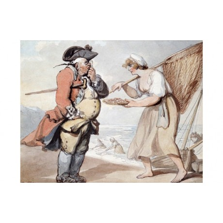 "THOMAS ROWLANDSON ""A Shrimp, Sir?"" Art Print various SIZES available"