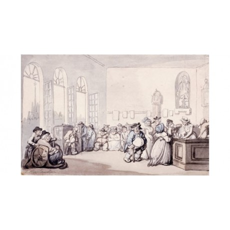 "THOMAS ROWLANDSON ""Comforts Of Bath - Pump Room"" Print various SIZES available"