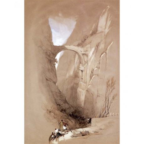 DAVID ROBERTS Triumphal Arch crossing Ravine leading to Petra GRANDEUR sky NEW