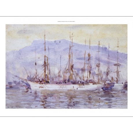 "HENRY SCOTT TUKE ""Three Masters Falmouth"" new CANVAS! various SIZES, BRAND NEW"