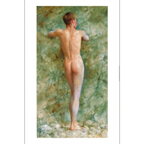 "HENRY SCOTT TUKE ""A Standing Male Nude"" new CANVAS choose SIZE, from 55cm up"