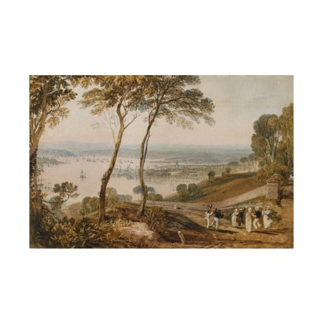 "JOSEPH MALLORD TURNER ""Plymouth Dock"" new CANVAS print various SIZES, BRAND NEW"