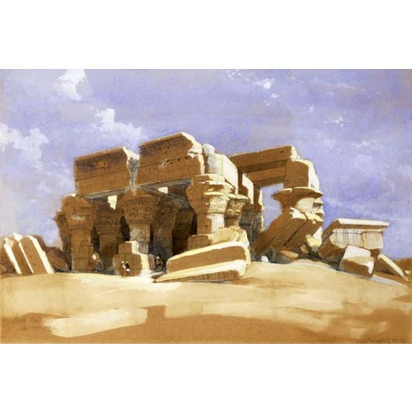 DAVID ROBERTS Temple of Kom Ombo, Upper Egypt ARCHAEOLOGY ptolemaic NEW PRINT!