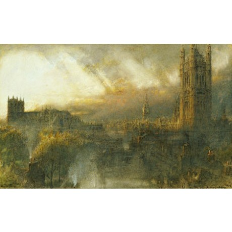ALBERT GOODWIN Westminster London ON CANVAS choose SIZE, from 55cm upwards, NEW