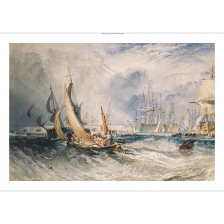 JOSEPH MALLORD TURNER Gosport Portsmouth Harbour CANVAS various SIZES, BRAND NEW