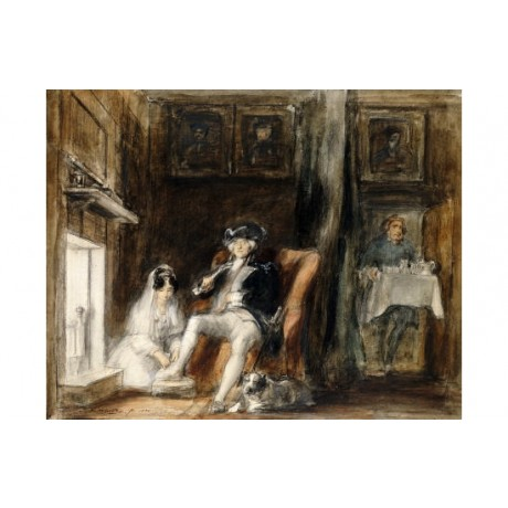 SIR DAVID WILKIE Disabled Commodore Military Art Print various SIZES available