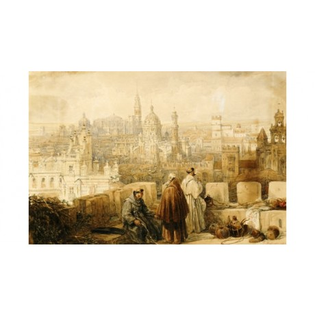 "DAVID ROBERTS ""Jerez From Ramparts"" Print choose your SIZE, from 55cm up"