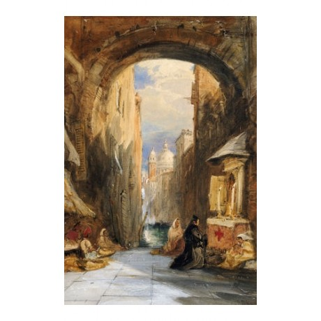 "JAMES HOLLAND ""Venice Archway"" Italy CANVAS EDITION various SIZES available, NEW"