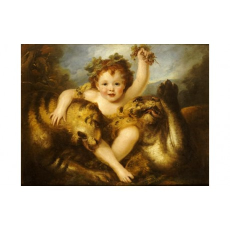 MARIA COSWAY Infant Bacchus Tiger ON CANVAS choose SIZE, from 55cm upwards, NEW