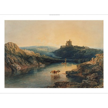 "JOSEPH MALLORD TURNER ""Norham Castle Morning"" on CANVAS various SIZES, BRAND NEW"