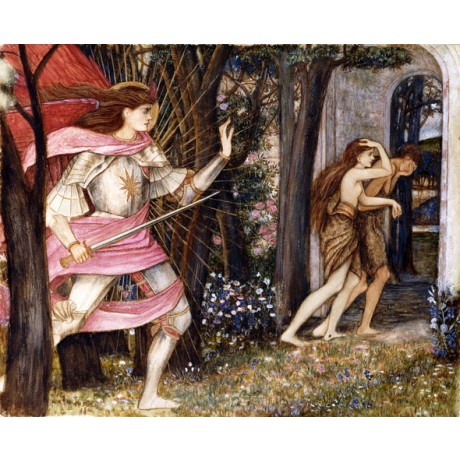"SPENCER STANHOPE ""The Expulsion from Garden of Eden"" EXILE sword CANVAS PRINT"