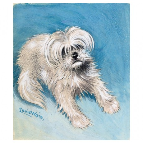 """LOUIS WILLIAM WAIN """"The Playful Fluff-Ball"""" dog CANVAS various SIZES, BRAND NEW"""