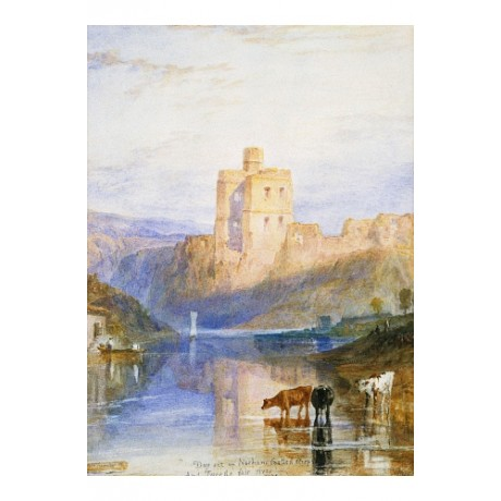 "JOSEPH MALLORD TURNER ""Norham Castle"" new CANVAS print! various SIZES, BRAND NEW"