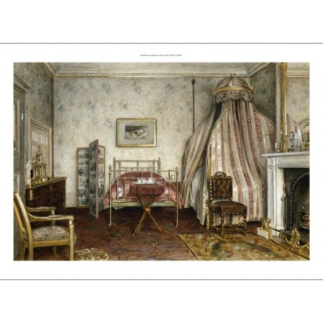 GODDWIN KILBURNE View of the Bedroom where NAPOLEON III died NEW CANVAS PRINT!