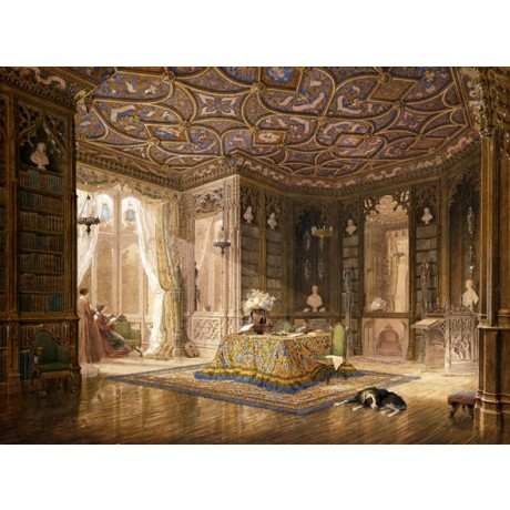 FREDERICK MACKENZIE Library of Stanmore Hall, seat of Robert Holland NEW PRINT