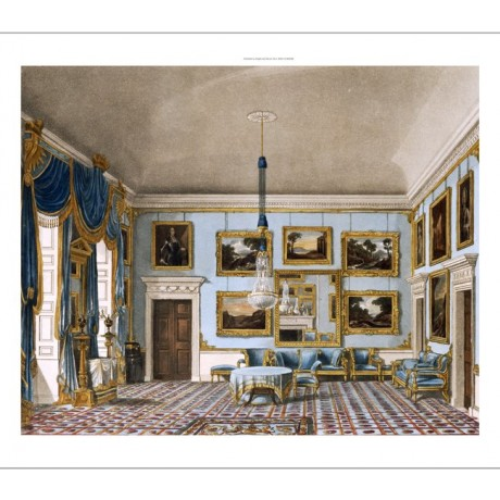 J. STEPHANOFF Blue Velvet Room, Buckingham House PRINT various SIZES, BRAND NEW